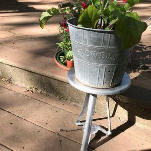 Antique milking stool